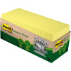 POST-IT 654R-24CP-CY NOTES Cab Pack 100% Rcycld 76x76 Yel