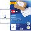 AVERY L7155 MAILING LASER LABELS 200.7x93.1mm 3/Sht Shipping