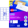 AVERY L7160 MAILING LABELS Laser 21/Sht 63.5x38.1mm