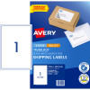 AVERY INTERNET SHIPPING LABELS L7167 1L/P/Sht 199.6x289.1mm Pack of 10 Laser Lab