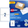AVERY INTERNET SHIPPING LABELS L7168 2L/P/Sht 199.6x143.5mm Pack of 20 Laser Lab
