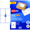 AVERY INTERNET SHIPPING LABELS L7169 4L/P/Sht 99.1x139mm Pack of 40 Laser Labels