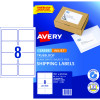 AVERY INTERNET SHIPPING LABELS L7165 8L/P/Sht 99.1x67.7mm Pack of 80 Laser Label