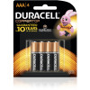DURACELL COPPERTOP BATTERY AAA Card of 4
