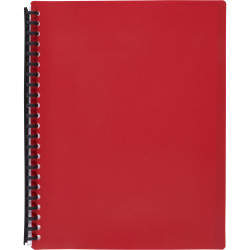 MARBIG A4 REFILLABLE DISPLAY BOOK DOUBLE CAPACITY - 40 POCKET RED