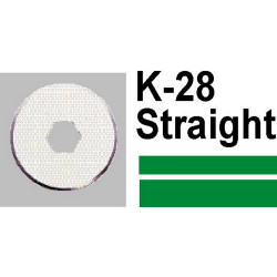 CARL STRAIGHT CUTTER BLADE PKT(2) K28 SUIT DC200,DC210 & DC230, DC250