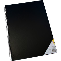 QUILL VISUAL ART DIARY A3 110gsm Cartridge 120 Pages Poly Cover Black