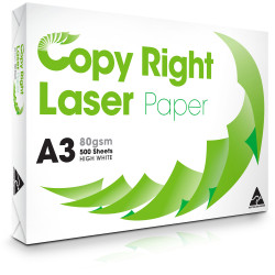 COPY RIGHT LASER PAPER A3 White copy paper 80gsm