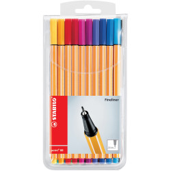 STABILO POINT 88 FINELINER Assorted Wlt20