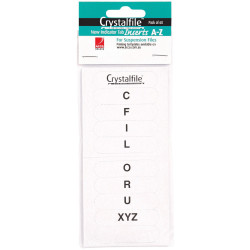 CRYSTALFILE INDICATOR TAB INSERTS (NEW STYLE) A-Z White Pack of 60
