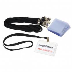 CONFERENCE ID KIT FOR 50 PEOPLE INCL.LANYARD CARDHOLDER,CARDS ETC