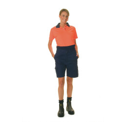 ZIONS HIVIS SAFETY WEAR Ladies Two Tone Polo Shirt Short Slv