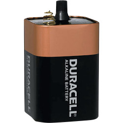 DURACELL 6 VOLT MN908 SPRING TERMINAL (DOLPHIN) BATTERY