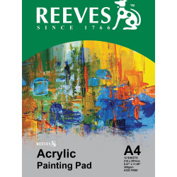 REEVES ACRYLIC PAD 300GSM A4 12 SHEETS   ** BTS **